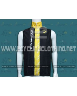 2014 Pinarello Black and Yellow Cycling Wind Vest