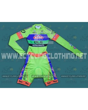 2014 Neri Sottoli- Yellow Fluo - Long Sleeve Cycling Skinsuit Time Trail Skin Suits