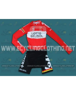 2014 Team Lotto - Long Sleeve Cycling Skinsuit Time Trail Skin Suits
