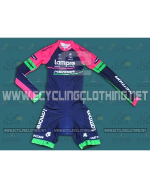 2014 Lampre - Long Sleeve Cycling Skinsuit Time Trail Skin Suits