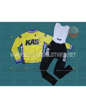 KAS Kaskol - Thermal Long Sleeve Cycling Jersey And BIB Pants Kits