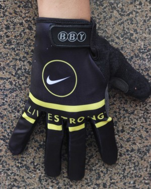 2013 Livestrong Black  - Thermal long Cycling Gloves