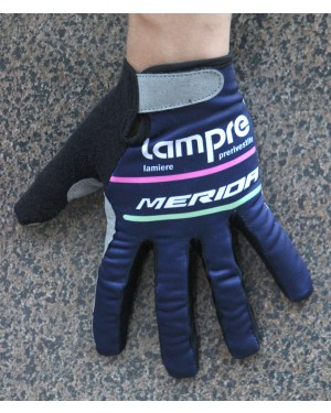 2016 Team Lampre Blue Thermal Cycling Gloves