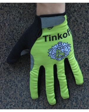 2016 Tinkoff Race Yellow Thermal Cycling Gloves
