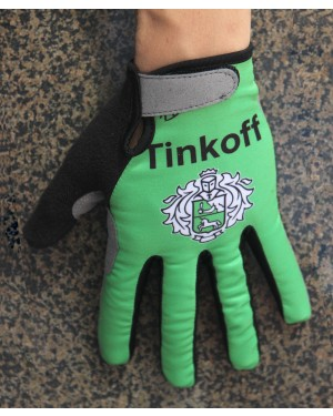 2016 Tinkoff Race Green Thermal Cycling Gloves