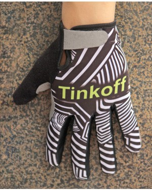 2016 Tinkoff Training Black/Yellow Thermal Cycling Gloves