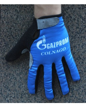 2016 Gazprom-Rusvelo Colnago Blue Thermal Cycling Gloves