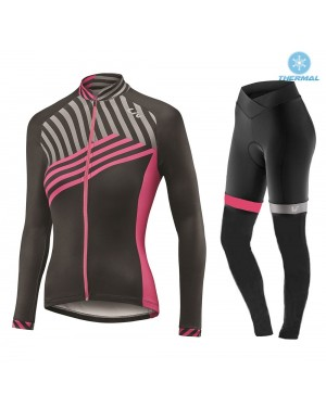 2017 Liv Accelerate Women's Black-Pink Thermal Cycling Jersey And Pants Set