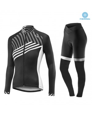 2017 Liv Accelerate Women's Black-White Thermal Cycling Jersey And Pants Set