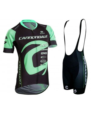 2018 Cannondale Factory Women's Black-Green Cycling Jersey And Bib Shorts Set