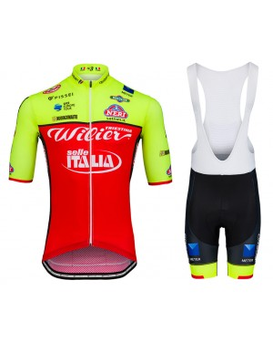 2018 Wilier Triestina Selle Italia Cycling Jersey And Bib Shorts Set