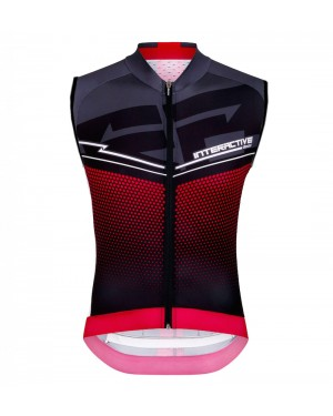 2016 Santini Interactive 3.0 Black-Red - Cycling Vest