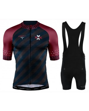 2020 CRAFT Specialiste Black-Red Cycling Jersey And Bib Shorts Set
