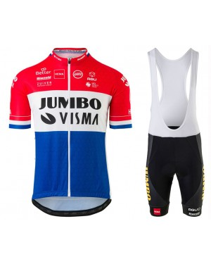2020 Team JUMBO-VISMA Dutch Champion Cycling Jersey And Bib Shorts Set