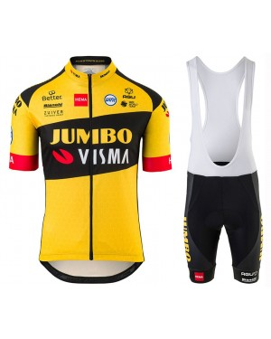 2020 Team JUMBO-VISMA Cycling Jersey And Bib Shorts Set