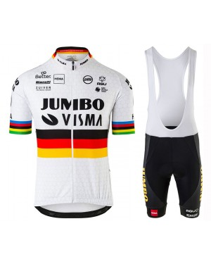 2020 Team JUMBO-VISMA World Champion Cycling Jersey And Bib Shorts Set