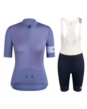 2020 Rapha Pro Team Women's Grey Cycling Jersey And Shorts Set