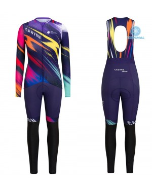 2020 Canyon Pro Team CS Women's Thermal Cycling Jersey And Pants Set