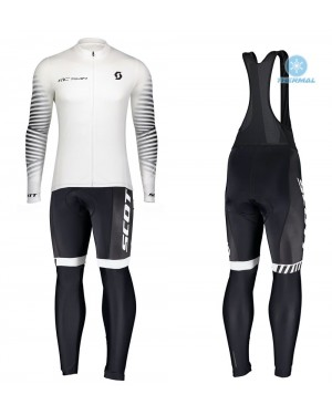 2020 Scott RC Team 1.0 White Thermal Cycling Jersey And Bib Pants Set