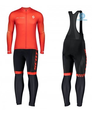 2020 Scott RC Team 1.0 Fiery Thermal Cycling Jersey And Bib Pants Set