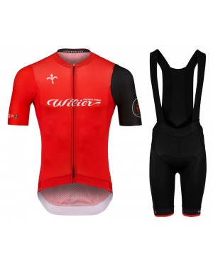 2020 Wilier Team Red Cycling Jersey And Bib Shorts Set