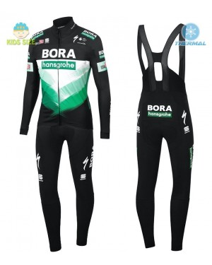 2020 Bora Pro Team Kids Thermal Cycling Jersey And Bib Pants Set