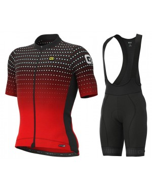 2021 ALE Bullet Red Cycling Jersey And Bib Shorts Set