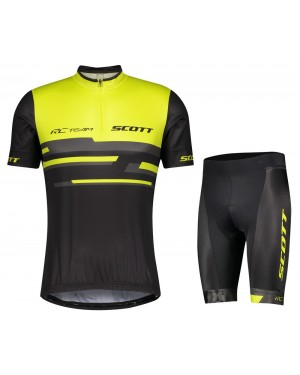 2021 SCOTT-RC Team 2.0 Yellow Cycling Jersey And Shorts Set