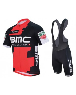 2017 BMC Racing Team Short Sleeve Cycling Jersey And Bib Shorts Set