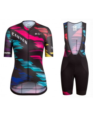2016 Team Canyon Colorful Women - Short Sleeve Cycling Jersey And Bib Shorts
