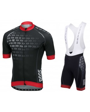 2016 Rose Race Pro Arrows Black - Short Sleeve Cycling Jersey And Bib Shorts