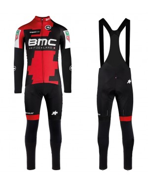 2017 BMC Racing Team Long Sleeve Cycling Jersey And Bib Pants Set