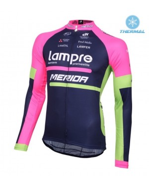 2016 Lampre Merida - Thermal Long Sleeve Cycling Jersey