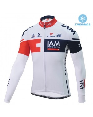 2016 Team IAM White - Thermal Long Sleeve Cycling Jersey