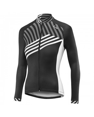 2017 Liv Accelerate Women's Black-White Long Sleeve Cycling Jersey