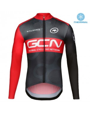 2017 GCN Team Pro Thermal Long Sleeve Cycling Jersey