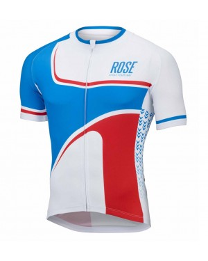 2016 Rose Retro Blue-White - Short Sleeve Cycling Jersey