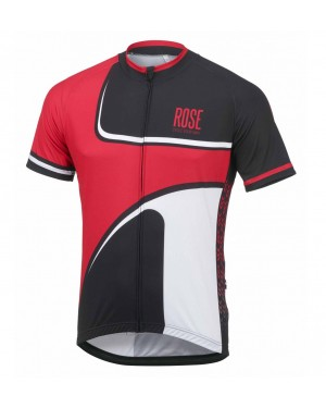 2016 Rose Retro Black-Red - Short Sleeve Cycling Jersey