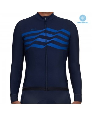 2019 MAAP M-Flag Ultra Blue Thermal Long Sleeve Cycling Jersey