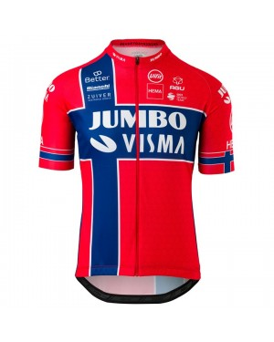 2020 Team JUMBO-VISMA Norway Champion Cycling Jersey
