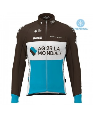 2020 Team AG2R Thermal Long Sleeve Cycling Jersey