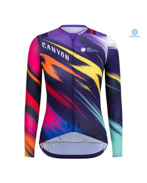 2020 Canyon Pro Team CS Women's Thermal Long Sleeve Cycling Jersey
