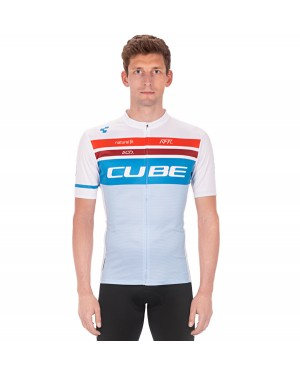 2020 Team Cube Pro Cycling White Cycling Jersey