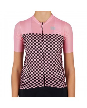 2021 Sportful Checkmate Pink Women Cycling Jersey