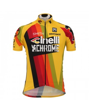 2017 Cinelli Chrome Yellow Short Sleeve Cycling Jersey