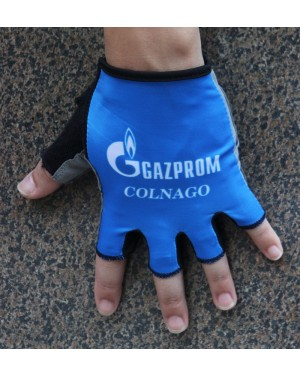 2016 Gazprom-Rusvelo Colnago Blue Cycling Gloves