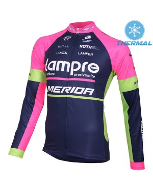2015 Lampre Merida - Thermal Long Sleeve Cycling Jersey
