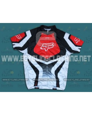 2014 White And Red Fox Team - Short Sleeve Cycling Jersey