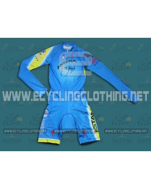 2014 Team Astana - Long Sleeve Cycling Skinsuit Time Trail Skin Suits