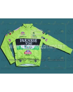 2012 Farnese Vini-Selle Italia Fluorescent - Thermal Long Sleeve Cycling Jersey